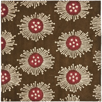 Chidi Brown/Multi Contemporary Rug Rug Size: Square 6'