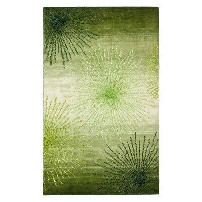 Freda Hand Woven Wool Green Area Rug Rug Size: 2 x 3
