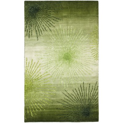 Freda Hand Woven Wool Green Area Rug Rug Size: Rectangle 5 x 8