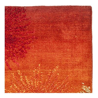 Freda Rust/Orange Area Rug Rug Size: Square 8