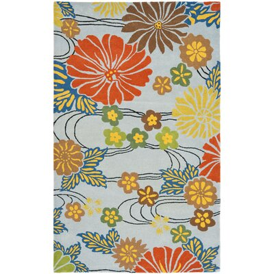 Chidi Blue Area Rug Rug Size: Rectangle 36 x 56