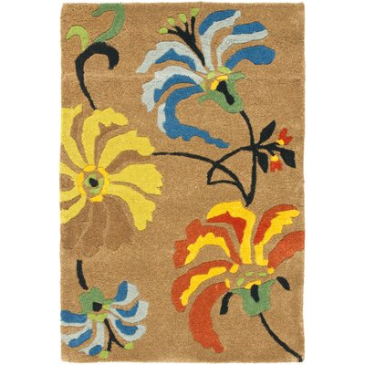 Freda Brown Area Rug Rug Size: 96 x 136