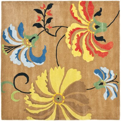 Freda Brown Area Rug Rug Size: Square 6