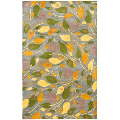 Chidi Leaves Area Rug Rug Size: Rectangle 76 x 96