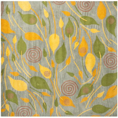 Chidi Leaves Area Rug Rug Size: Square 6