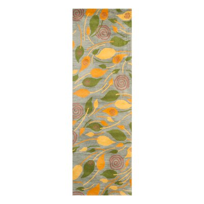 Chidi Leaves Area Rug Rug Size: Runner 26 x 8