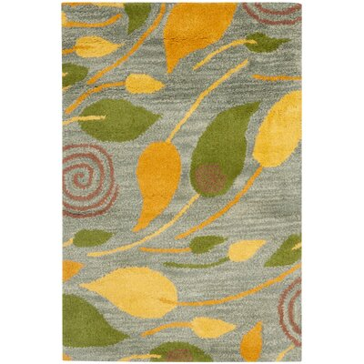 Chidi Leaves Area Rug Rug Size: Rectangle 2 x 3