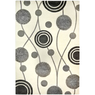 Chidi Ivory & Grey Area Rug Rug Size: Rectangle 6 x 9