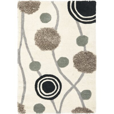 Chidi Ivory & Grey Area Rug Rug Size: Rectangle 2 x 3
