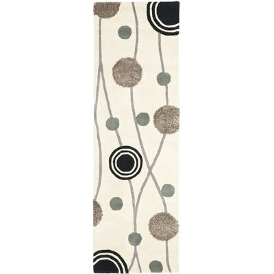 Chidi Ivory & Grey Area Rug Rug Size: Runner 26 x 8