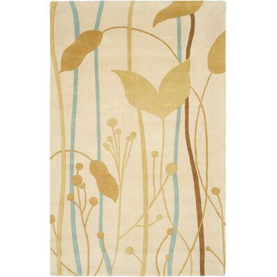 Chidi Beige Grassland Area Rug Rug Size: Rectangle 76 x 96