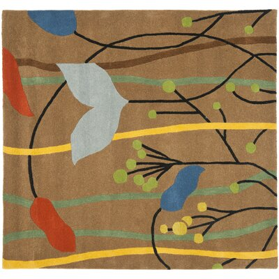 Freda Brown Grassland Area Rug Rug Size: Square 6