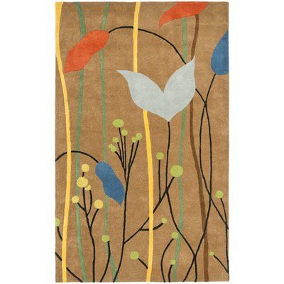 Freda Brown Grassland Area Rug Rug Size: Rectangle 5 x 8