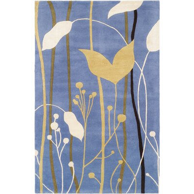 Chidi Blue Grassland Area Rug Rug Size: Rectangle 36 x 56