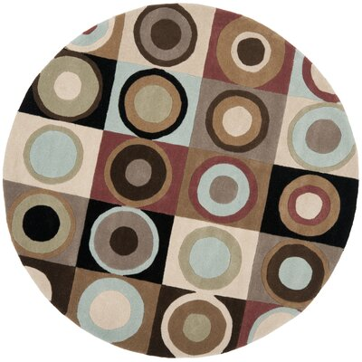 Chidi Area Rug Rug Size: Round 6