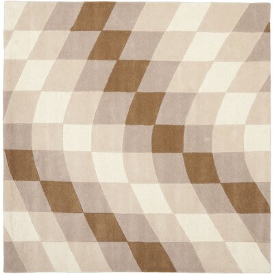 Chidi Sand & Ivory Area Rug Rug Size: Square 6