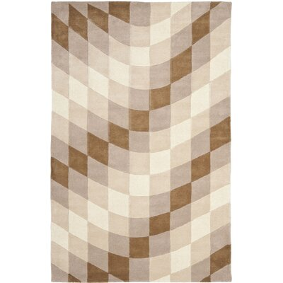 Chidi Sand & Ivory Area Rug Rug Size: 5 x 8