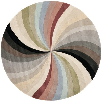 Chidi Abstract Area Rug Rug Size: Round 6