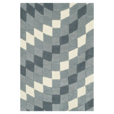 Freda Light Grey/Ivory Rug Rug Size: Rectangle 36 x 56