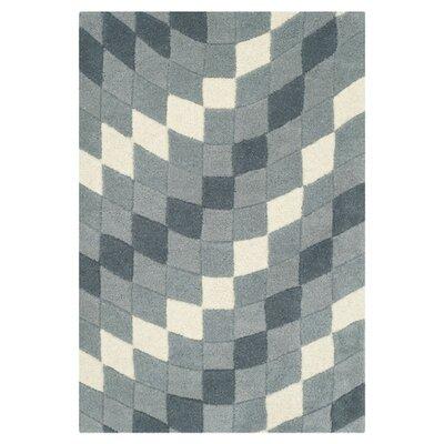 Freda Light Grey/Ivory Rug Rug Size: 5 x 8