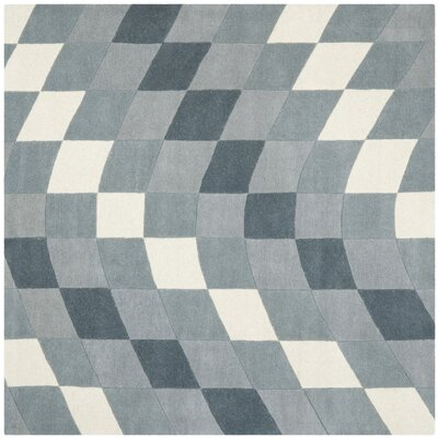 Freda Light Grey/Ivory Rug Rug Size: Square 6