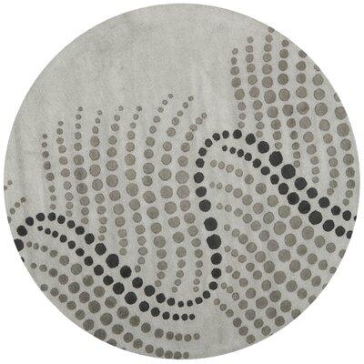 Chidi Blue/Grey Rug Rug Size: Round 6