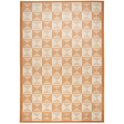 Charlotte Orange Indoor/Outdoor Area Rug Rug Size: 53 x 77