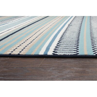 Terry Blue Indoor/Outdoor Area Rug Rug Size: Round 55