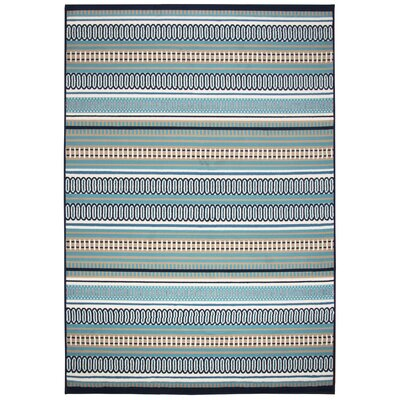 Terry Blue Indoor/Outdoor Area Rug Rug Size: 67 x 96
