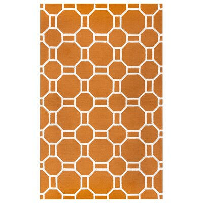Evangeline Hand-Tufted Orange Indoor/Outdoor Area Rug Size: Rectangle 9 x 12