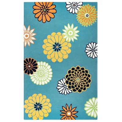 Evangeline Hand-Tufted Green Indoor/Outdoor Area Rug Size: Rectangle 5 x 76