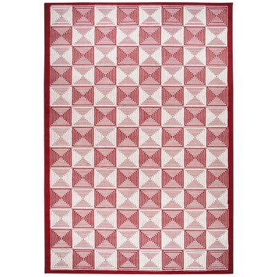 Charlotte Red Indoor/Outdoor Area Rug Rug Size: Rectangle 53 x 77