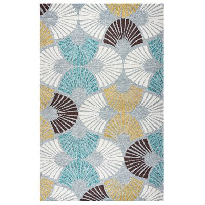 Evangeline Hand-Tufted Geometric Indoor/Outdoor Area Rug Size: Round 8