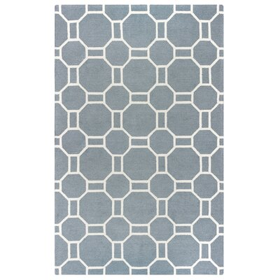 Evangeline Hand-Tufted Gray Geometric Indoor/Outdoor Area Rug Size: 76 x 96