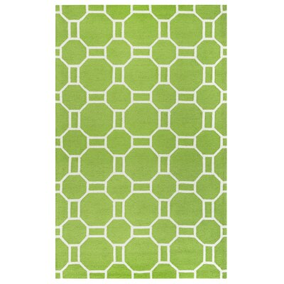 June Hand-Tufted Lime Indoor/Outdoor Area Rug Size: 76 x 96
