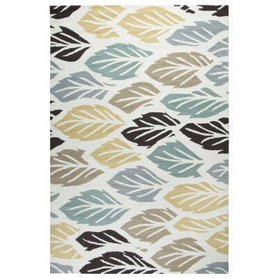 Evangeline Hand-Tufted Off White/Light Brown Indoor/Outdoor Area Rug Size: Rectangle 9 x 12