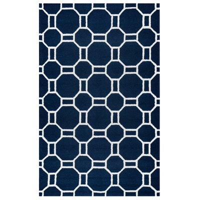 Evangeline Hand-Tufted Indigo Indoor/Outdoor Area Rug Size: Rectangle 76 x 96