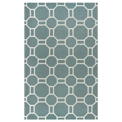 June Hand-Tufted Dark Sage Indoor/Outdoor Area Rug Size: 76 x 96