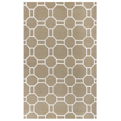Evangeline Hand-Tufted Beige Indoor/Outdoor Area Rug Size: Round 8