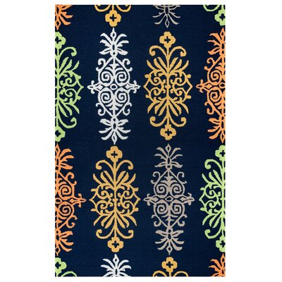 Evangeline Fade Resistant Hand-Tufted Indoor/Outdoor Area Rug Size: Rectangle 9 x 12