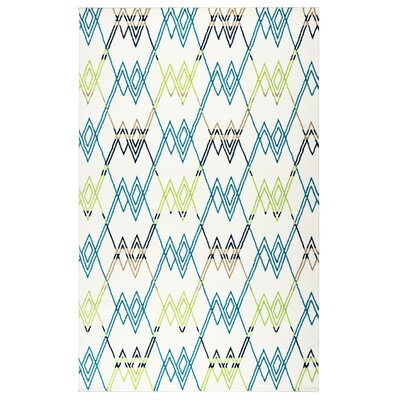 Melva Geometric Indoor/Outdoor Area Rug Rug Size: 53 x 77