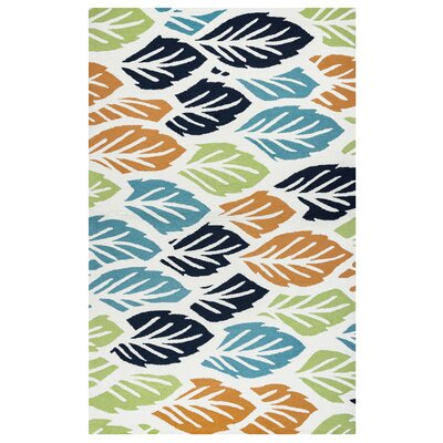 Evangeline Hand-Tufted Floral and Plant Indoor/Outdoor Area Rug Size: 36 x 56