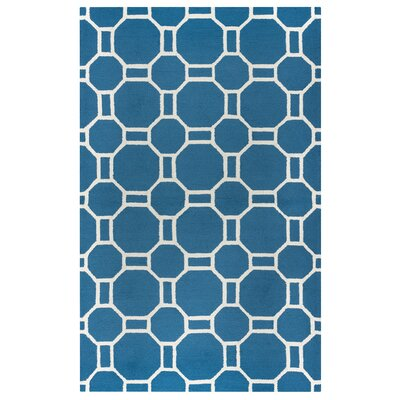 Evangeline Hand-Tufted Marine Blue Indoor/Outdoor Area Rug Size: Rectangle 76 x 96