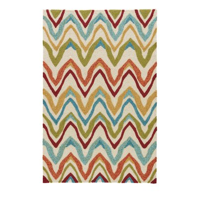 Richardson Burnt Orange/Cyan Blue Indoor/Outdoor Area Rug Rug Size: 36 x 56