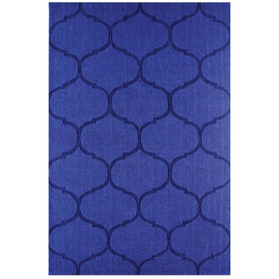 DeMastro Hand-Woven Blue Wool Area Rug Rug Size: Rectangle 9 x 12