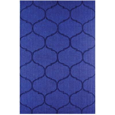 DeMastro Hand-Woven Blue Wool Area Rug Rug Size: Rectangle 5 x 8