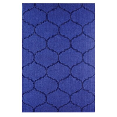 DeMastro Hand-Woven Blue Wool Area Rug Rug Size: Rectangle 8 x 10