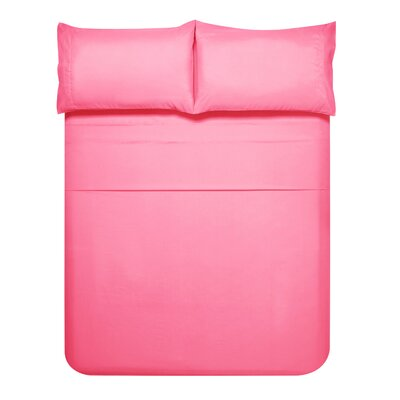 Sariah Super Soft 4 Piece Sheet Set Color: Strawberry Ice