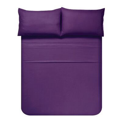 Sariah Super Soft 4 Piece Sheet Set Color: Imperial Purple