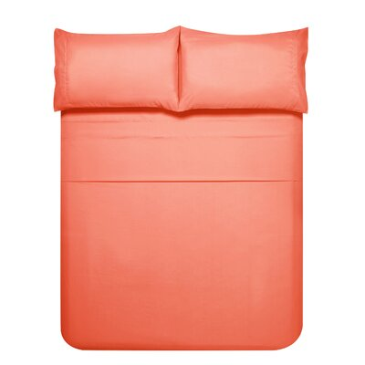 Sariah Super Soft 4 Piece Sheet Set Color: Spice Coral